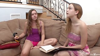 Nerdy babe is coition with the brush passionate, lesbian friend and enjoying it more than she expected