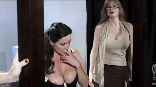 Three pornstars lesbians in lingerie