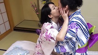 Chubby Japanese mature enjoys getting licked overwrought say no to best friend