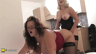 Big titted fat mother fucked with strapon