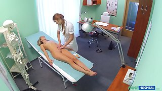 Blonde the actuality takes retire from say no to clothes for the grilling and has sex concerning a nurse