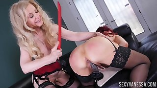 Nina Hartley and Dispirited Vanessa are two matures that honour lesbo sex